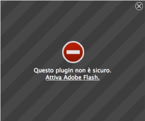 Linux – Firefox blocca il plugin Flash
