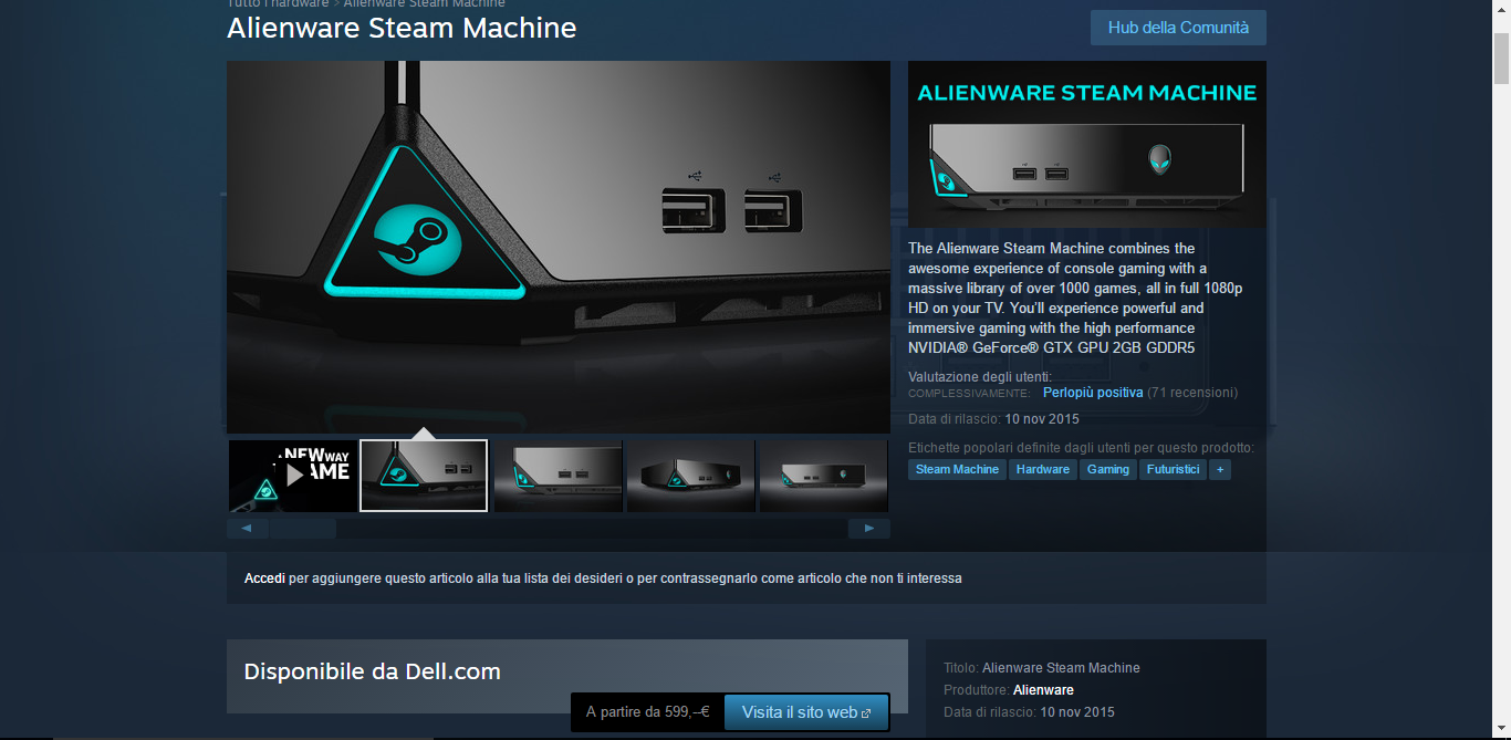 Steam Machine 600 euro