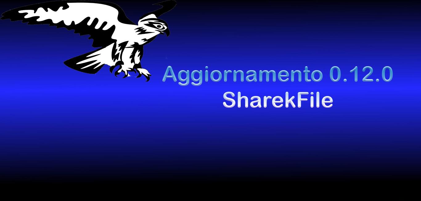 Aggiornamento 0.12.0 SharekFile