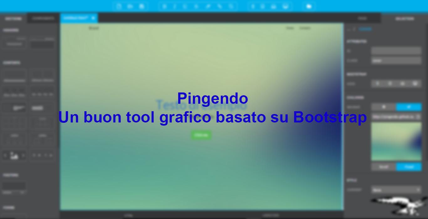Pingendo – Un buon tool grafico basato su Bootstrap