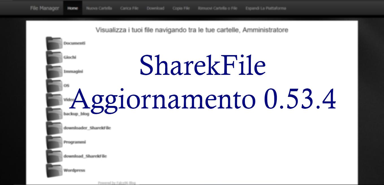 Aggiornamento 0.53.4 SharekFile – Più Multimedialità