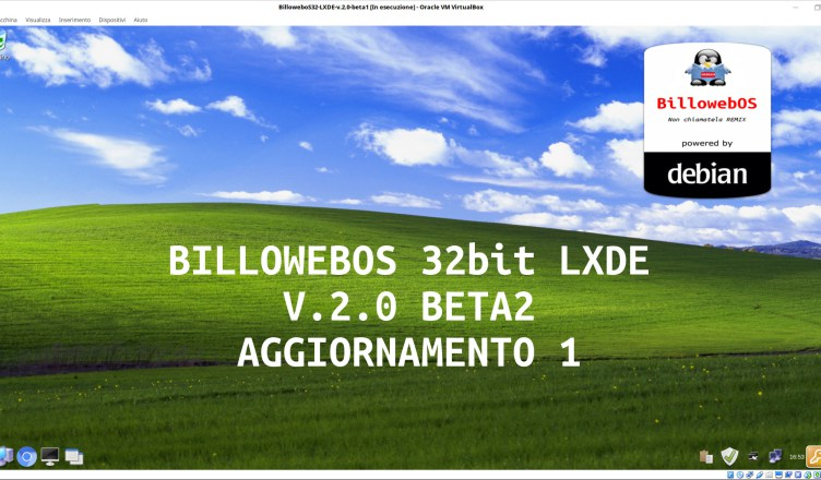Recensione BillowebOS 32 bit LXDE