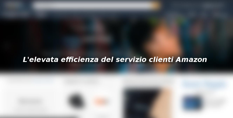 L'elevata efficienza del servizio clienti Amazon